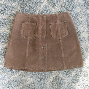 Genuine Suede Vintage Mini Skirt - In Flight